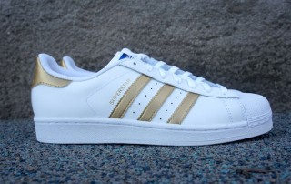Adidas Superstar White And Gold