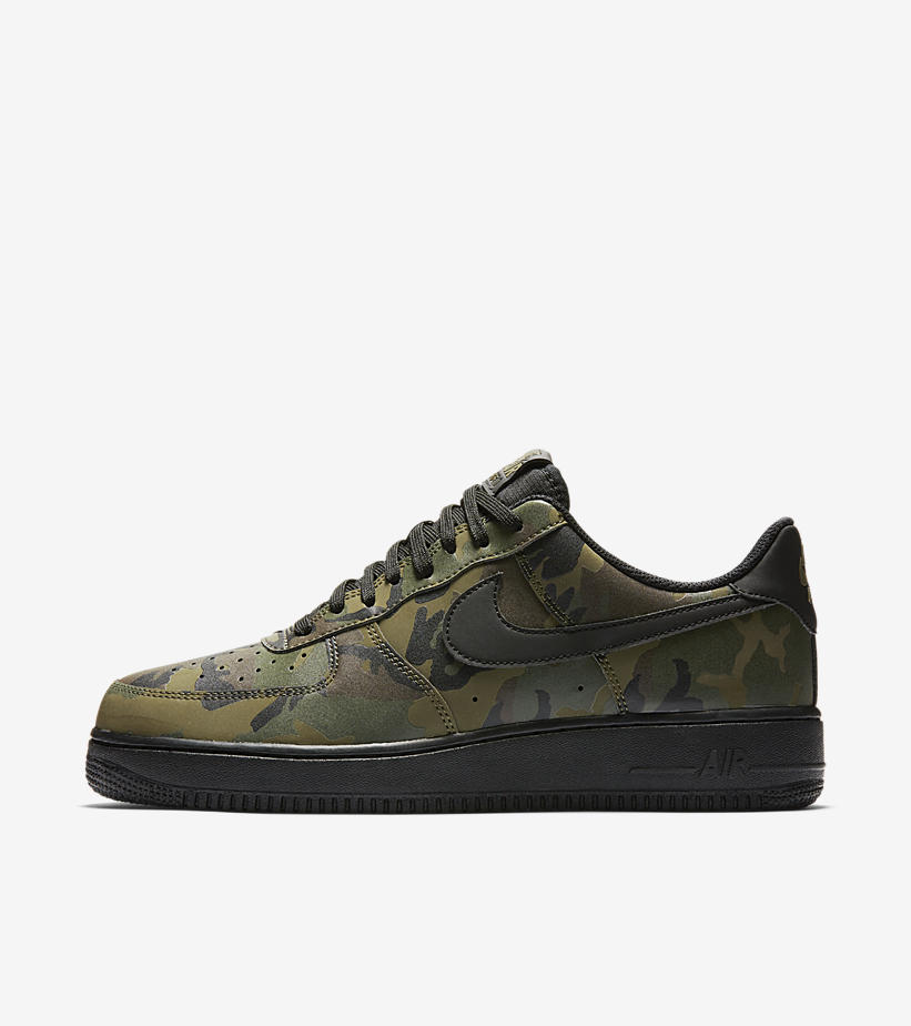 nike air force 1 camo reflective green soleracks. Black Bedroom Furniture Sets. Home Design Ideas