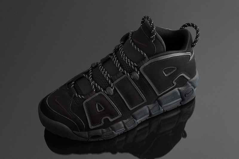 Nike Air More Uptempo Triple Black Incognito