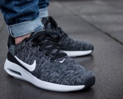 Nike Air Max Modern Flyknit Black White Sale $69.98